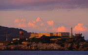 Alcatraz Metal Prints - Alcatraz Sunset Metal Print by Bill Keiran