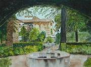 Andalucia Paintings - Alcazar de Cordoba by Sobeida Salomon