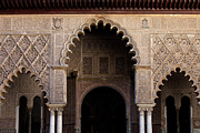 Patio Prints - Alcazar Palace of Seville Architectural Details Print by Artur Bogacki