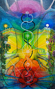 Grapevines Paintings - Alchemical Door by Colleen Koziara