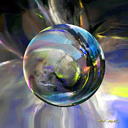 Spheres Digital Art - Alchemy of Hope by Robin Moline