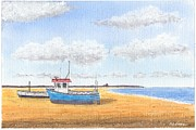 Aldeburgh Beach - Suffolk Print by Peter Farrow