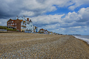Shingle Beach Prints - Aldeburgh Beach View Print by Chris Thaxter