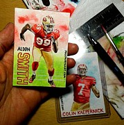 Espn Paintings - Aldon Smith by Joshua Jacobs
