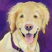 Pastel Dog Paintings - Alex by Pat Saunders-White