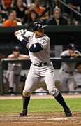 Mlb Photo Posters - Alex Rodriguez at Bat Poster by Sanely Great