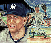 Yankees Painting Originals - Alex Rodriquez by Israel Torres
