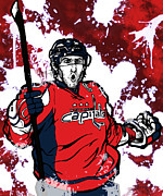 Hockey Mixed Media - Alexander Ovechkin by Nate Gandt