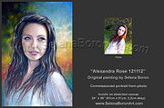 Commission Work Framed Prints - Alexandra Rose 121112 Framed Print by Selena Boron