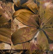 Autumn Leaf On Water Mixed Media Prints - Alexia II Print by Yanni Theodorou