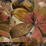 Autumn Leaf On Water Mixed Media Prints - Alexia III Print by Yanni Theodorou