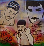 Heavyweight Paintings - Alexis Arguello by Tony B Conscious