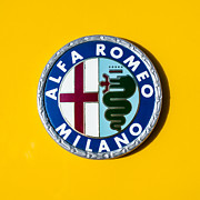 Images Of Cars Prints - Alfa Romeo Emblem Print by Jill Reger