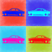 Old Mixed Media Metal Prints - Alfa Romeo GTV Pop Art 2 Metal Print by Irina  March