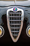 Photographs Framed Prints - Alfa Romeo Milano Grille Framed Print by Jill Reger