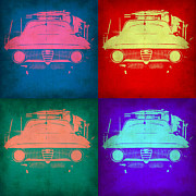Italian Classic Car Prints - Alfa Romeo  Pop Art 1 Print by Irina  March