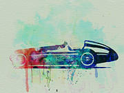 Vintage Car Drawings Prints - Alfa Romeo Tipo Watercolor Print by Irina  March