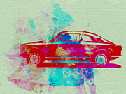 Classic Car Drawings Posters - Alfa Romeo  Watercolor 2 Poster by Irina  March