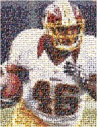 Running Back Mixed Media - Alfred Morris Redskins History Mosaic by Paul Van Scott