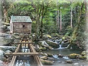 Cove Mixed Media - Alfred Reagans Tub Mill by Philip White