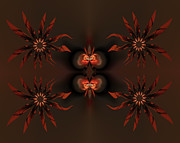 Digital Framed Prints - Algorithmic flowers Framed Print by Claude McCoy