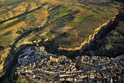 Historic Villages Prints - Alhama de Granada from the air Print by Guido Montanes Castillo