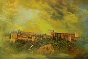 Old Town Painting Framed Prints - Alhambra Granada  Framed Print by Catf