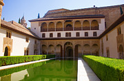 Landmark Pyrography Prints - Alhambra palace Print by Dragomir Nikolov
