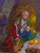 Baba Paintings - Ali Baba by Mounir Mounir