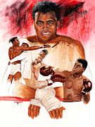 Cassius Clay Paintings - Ali by Joe Winkler