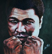 Clay Paintings - Ali - Sting Like a Bee by Shirl Theis