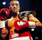 Boxer Painting Prints - Ali Tareh Print by Robert Phelps