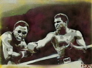 Cassius Clay Paintings - Ali Vs Joe by Barry Boom