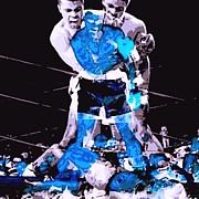 Boxing Digital Art - Ali vs. Liston Abstract by Spencer McKain