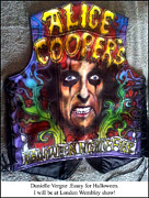 Danielle Vergne - Alice Cooper Airbrushed...
