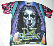 Metallica Mixed Media - Alice Cooper airbrushed t-shirt Dark shadows by Danielle Vergne by Danielle Vergne