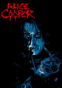 Photomonatage Digital Art Metal Prints - Alice Cooper Metal Print by Caio Caldas