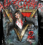 Danielle Vergne - Alice Cooper leather...