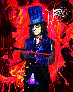 Photo Manipulation Mixed Media Framed Prints - Alice Cooper  Framed Print by Manish Mansinh