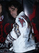 Metallica Mixed Media - Alice Cooper wear a airbrushed leather jacket by Danielle Vergne by Danielle Vergne
