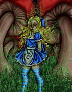 Alice In Wonderland Framed Prints - Alice Framed Print by Coriander  Shea