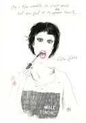 Bonding Drawings Metal Prints - Alice Glass Metal Print by Mils Gan