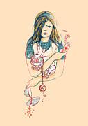 Alice In Mechaland Print by Budi Satria Kwan