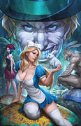 Grimm Mixed Media Framed Prints - Alice in Wonderland 01A Framed Print by Zenescope Entertainment