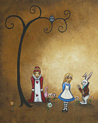 Alice In Wonderland Framed Prints - Alice in Wonderland Art - Encore - I Framed Print by Charlene Zatloukal