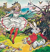 Fairytale Painting Prints - Alice in Wonderland Print by Jesus Blasco