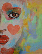 Female Clown Paintings - Alice in Wonderland by Michael Creese