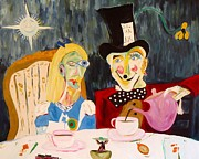 Alice In Wonderland Paintings - Alice in Wonderland by Troy Thomas