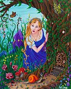 Locket Painting Originals - Alice by Kyra Wilson