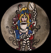Alice In Wonderland Paintings - Alice by Shari Mallinson